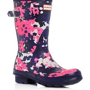 Hunter boots Camo pink/purple boots